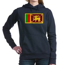 Sri Lanka Flag Women's Hooded Sweatshirt