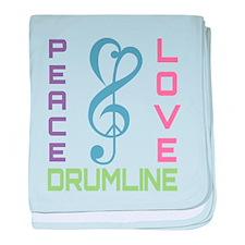 Peace Love Drumline baby blanket