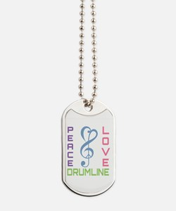 Peace Love Drumline Dog Tags