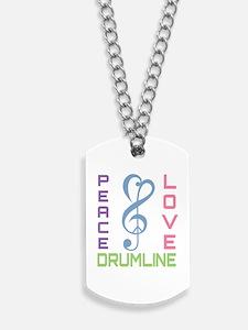 Peace Love Drumline Dog Tags