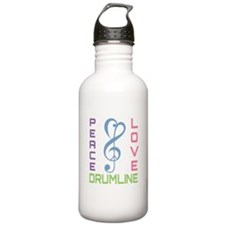 Peace Love Drumline Water Bottle