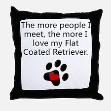 The More I Love My Flat-Coated Retriever Throw Pil