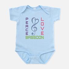 Peace Love Bassoon Infant Bodysuit