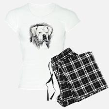 Beautiful White Boxer Pajamas