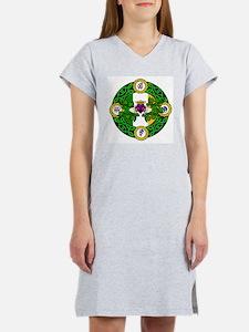 Poly Claddagh Brooch Women's Nightshirt