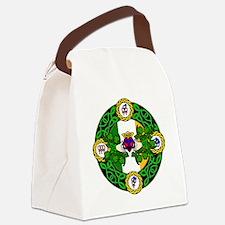 Poly Claddagh Brooch Canvas Lunch Bag