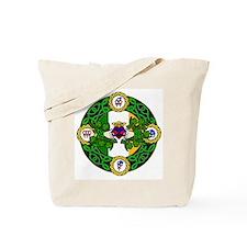 Poly Claddagh Brooch Tote Bag