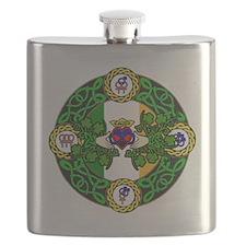 Poly Claddagh Brooch Flask