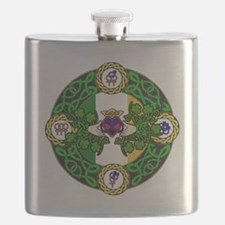 Poly Claddagh Brooch Flask