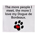 Dog de bordeaux Blankets
