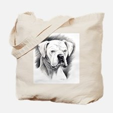 Beautiful White Boxer Tote Bag