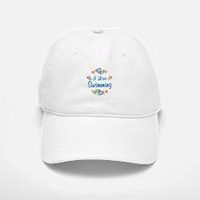 I Love Swimming Baseball Baseball Cap