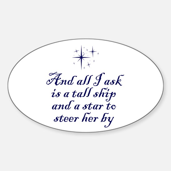 Tall Ship Oval Decal
