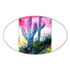 Saguaro cactus, southwest art Decal