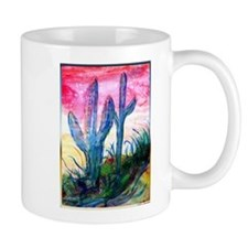 Saguaro cactus, southwest art Mugs