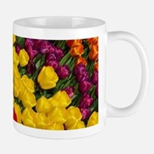 Colorful spring tulips in rows Mugs