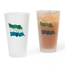 Sierra Leone Flag Drinking Glass