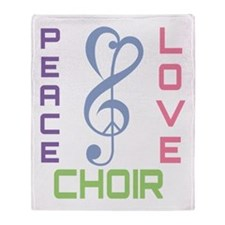 Peace Love Choir Throw Blanket