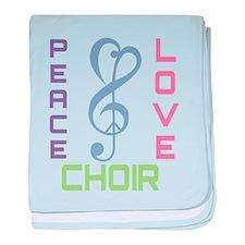Peace Love Choir baby blanket