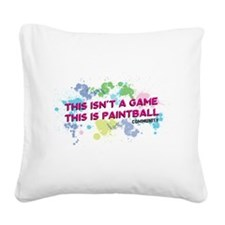 Community Paintball Square Canvas Pillow