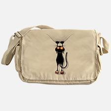 Funny Black Cat Messenger Bag