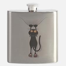 Funny Black Cat Flask