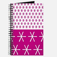 Abstract Asterisk Pattern Journal
