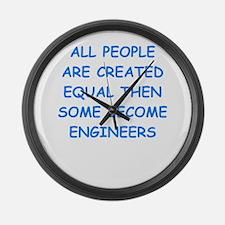 engineer Large Wall Clock