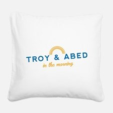 Troy & Abed in the Morning Square Canvas Pillow