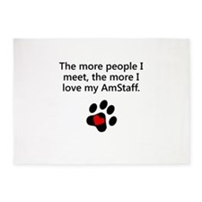 The More I Love My AmStaff 5'x7'Area Rug