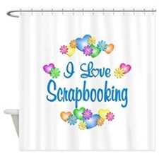I Love Scrapbooking Shower Curtain