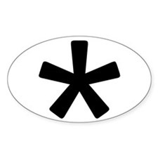 Asterisk Oval Decal