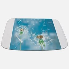 Dandelions and Dragonflies Bathmat