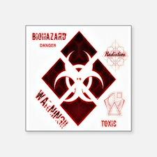 Biohazard red Sticker