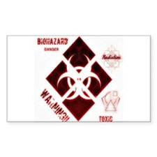 Biohazard red Decal