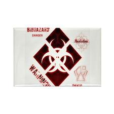 Biohazard red Magnets