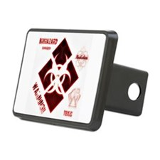 Biohazard red Hitch Cover