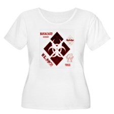 Biohazard red Plus Size T-Shirt