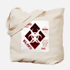 Biohazard red Tote Bag