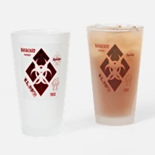 Biohazard red Drinking Glass