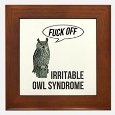 Irritable Owl Syndrome Framed Tile