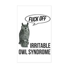 Irritable Owl Syndrome Stickers