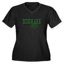 Denmark Root Women's Plus Size V-Neck Dark T-Shirt