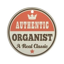 Organist Vintage Retro Ornament (Round)