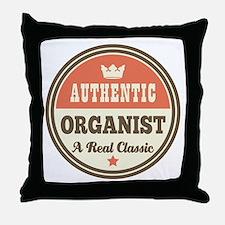Organist Vintage Retro Throw Pillow