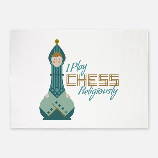 I Play Chess 5'x7'Area Rug
