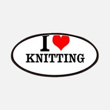 I Love Knitting Patches