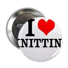 "I Love Knitting 2.25"" Button (10 pack)"