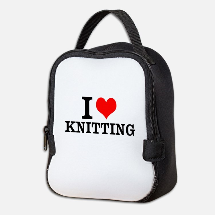 I Love Knitting Neoprene Lunch Bag