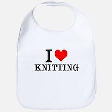 I Love Knitting Bib